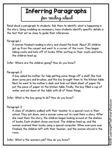 activities lessons  ideas  teaching inferring