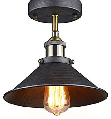 antique industrial edison semi flush ceiling l vintage