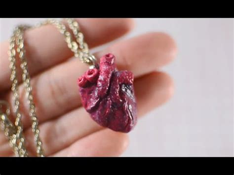 DIY Anatomical Human Heart Necklace TUMBLR INSPIRED