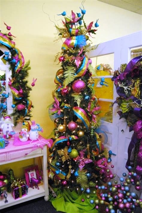 adorable skinny christmas tree decorations ideas