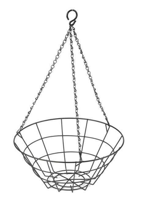 flat bottomed wire hanging basket cm