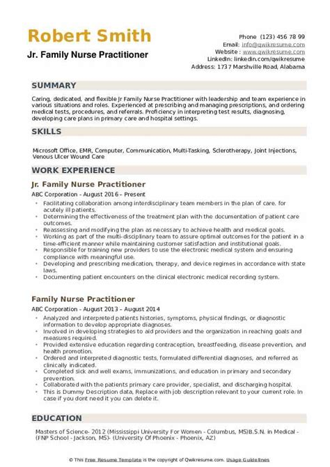 Practitioner Resume by Family Practitioner Resume Sles Qwikresume
