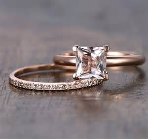 morganite wedding ring set 25 best ideas about morganite engagement rings on morganite engagement