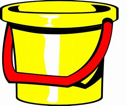 Bucket Clipart Pail Clip Yellow Vector Clker