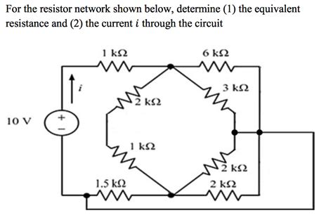 Solved For The Resistor Network Shown Below Determine