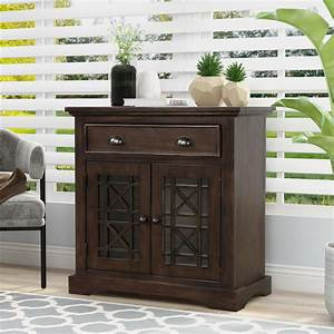Buffet, Cabinet, Modern, Farmhouse, Wooden, Sideboard, Storage, Cabinet, With, Doors, And, Drawers