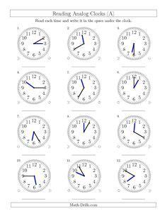 clock worksheets images clock worksheets math