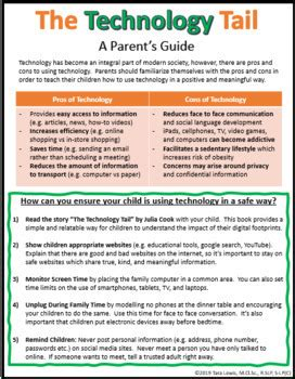 technology tail handout activities posters