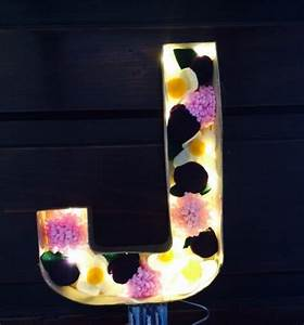 navy pink and ivory floral light up letters felt With pink light up letters