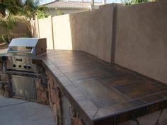 outdoor kitchen tile countertop ideas