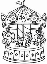 Coloring Carnival Pages Carousel Circus Wheel Ferris Printable Sheets Rides Animals Bumper Cars Animal Riders Colouring Fair Ride Tent Seats sketch template