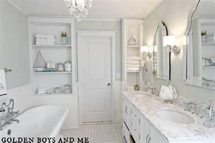 white bathroom ideas golden boys and me master bathroom pedestal tub white subway tile
