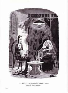 Vintage CARTOON Chas ADDAMS Family Morticia Choosing A ...