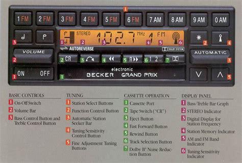 help becker radio no sound mercedes forum