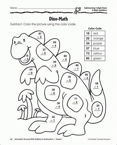 Coloring Subtraction Pages Popular