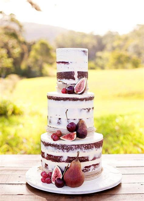 naked wedding cake ideas  rustic wedding deer
