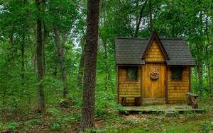 Tiny House in the Forest Full HD Wallpaper and Background ...