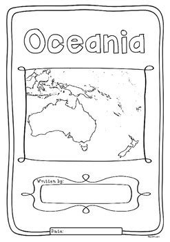 oceania  countries study worksheets  maps