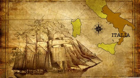map italy calabria historic compass vessel ship