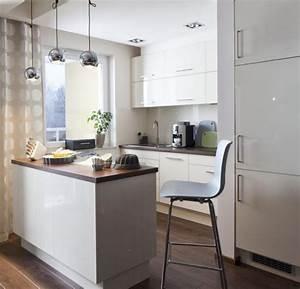 Arbeitsplatte Holz Küche : einrichtungstipps kleine k che ideen k chenzeile kleine insel esstheke holz arbeitsplatte coc ~ Sanjose-hotels-ca.com Haus und Dekorationen