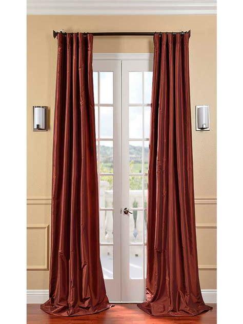 decoration paprika silk length curtain ideas