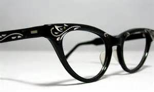 cat eye eyeglasses vintage cat eye glasses frames black and silver with etched