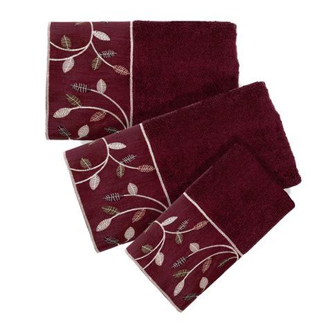 Burgundy Coloured Bathroom Accessories by Popular Bath Aubury 3 Towel Set Burgundy Ebay