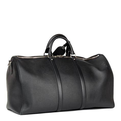 louis vuitton supreme black epi leather keepall bandouliere  stdibs