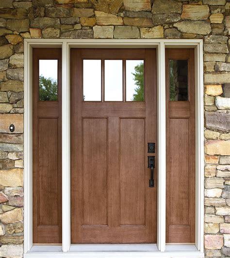 Fiberglass Front Doors by Exterior Doors Craftsman Style Fir Textured Fiberglass