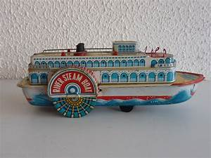 Tin Toy Mississippi river steam Boat Made in Japan Battery ...