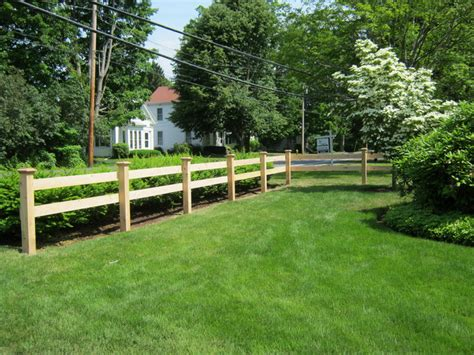 Rail Fence Design And Installation In Maine