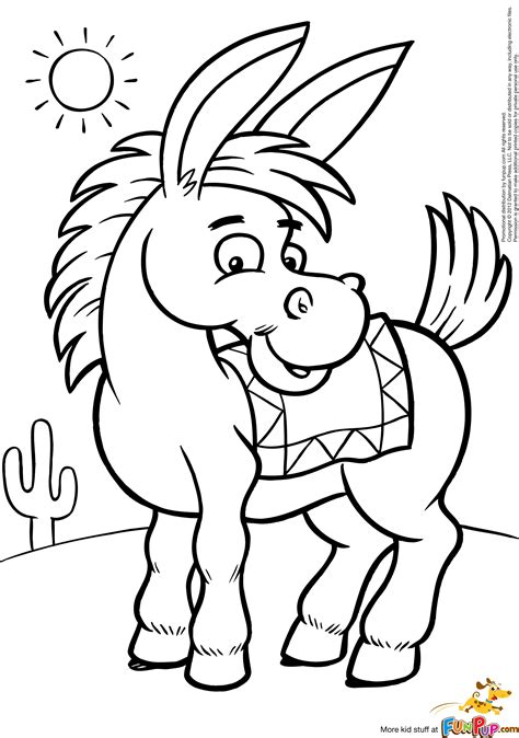 donkey coloring pages    print