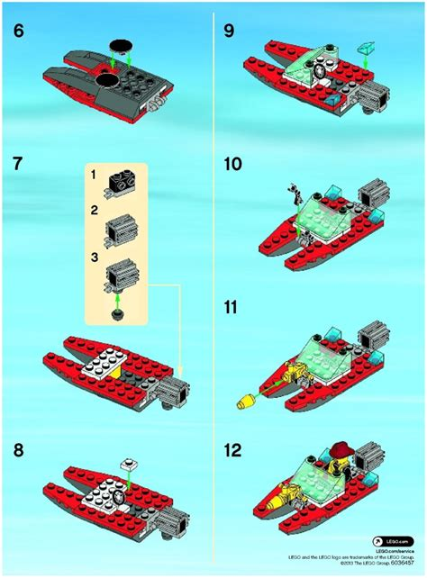 lego fire speedboat instructions  city