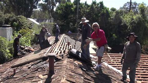 tear   cedar wood shake roof palos verdes
