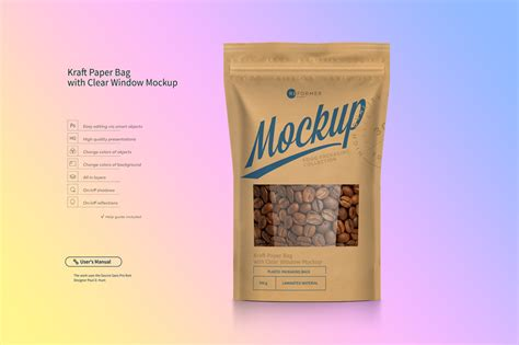 We are sharing another useful packaging mockup created with kraft paper by anthony boyd graphics. Kraft Paper Bag Stand up Pouch Doypack with Clear Window ...