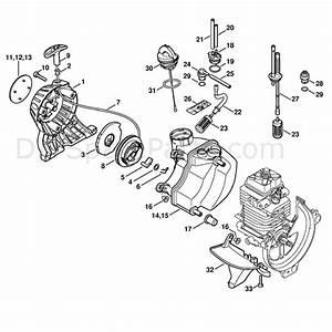 Stihl Km 110 R Engine  Km 110 R  Parts Diagram  Rewind Starter