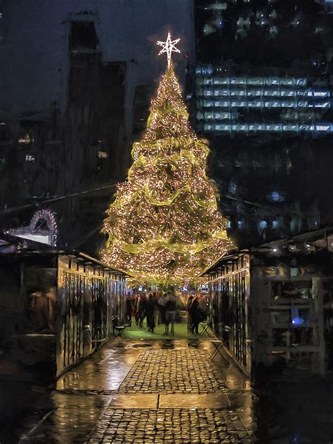 christmas tree in new york city i photograph by keith yates