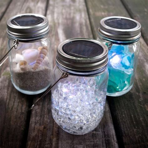 3 pack jar solar lights silver lids warm soft