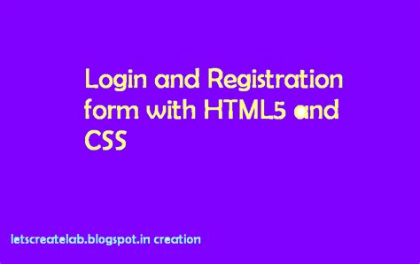 letscreatelab switching login and registration form with