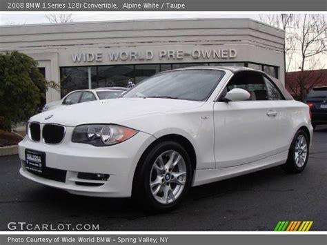 2008 Bmw 128i by Alpine White 2008 Bmw 1 Series 128i Convertible Taupe