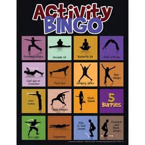 pretend kitchen furniture physical activity bingo