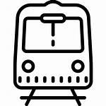 Subway Clipart Railroad Train Icon Icons Crossing
