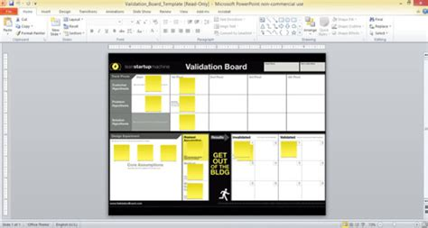 free board templates free validation board template for powerpoint