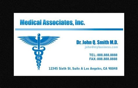 awesome doctors business card templates  ai