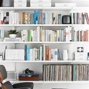 White elfa décor Bookshelf The Container Store