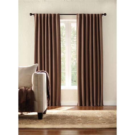 Back Tab Drapes by Home Decorators Collection Semi Opaque Mocha Room