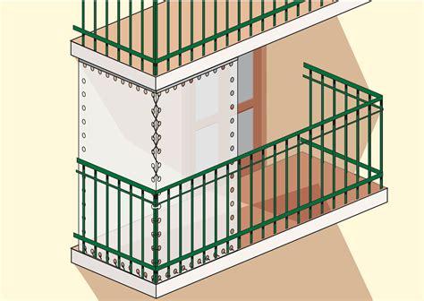 ringhiera terrazzo proteggere dal freddo le piante sul balcone cose di casa