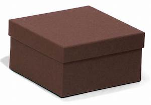 Square Kraft chocolate recycled jewellery box / recyled ...