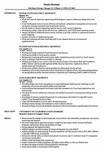 Cloud security architect resume samples velvet jobs for Cloud security architect resume