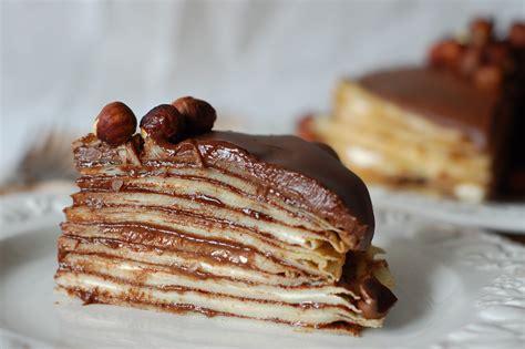 love  cake nutella  cream cheese crepe cake